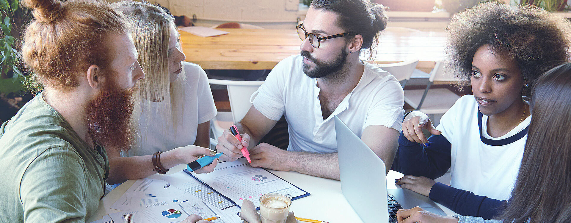 Creative Business Meeting in a Design Studio